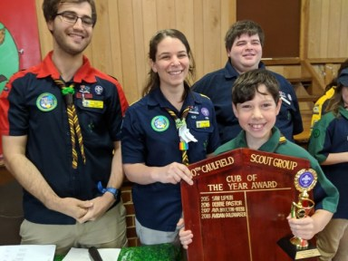 Congratulations Avi our Cub Scout of the Year!