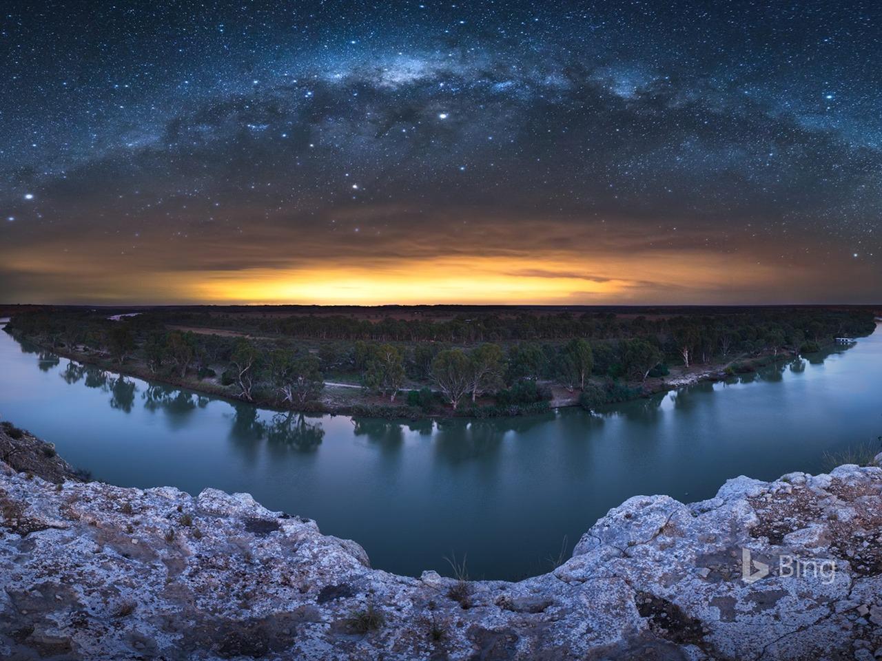 Os X Mavericks Wallpaper Iphone Milky Way Over Murray River 2018 Bing Desktop Preview