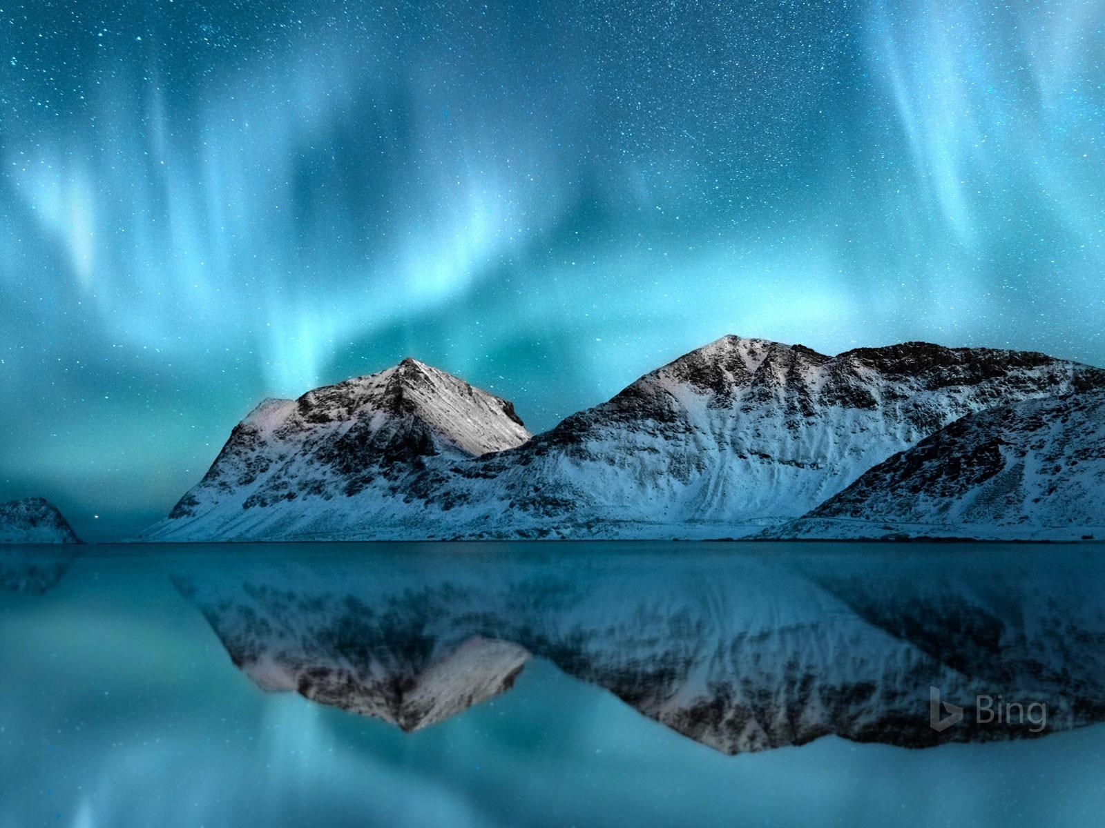 Iphone 5s Stock Wallpaper Norway Aurora Borealis Lofoten 2018 Bing Wallpaper Preview