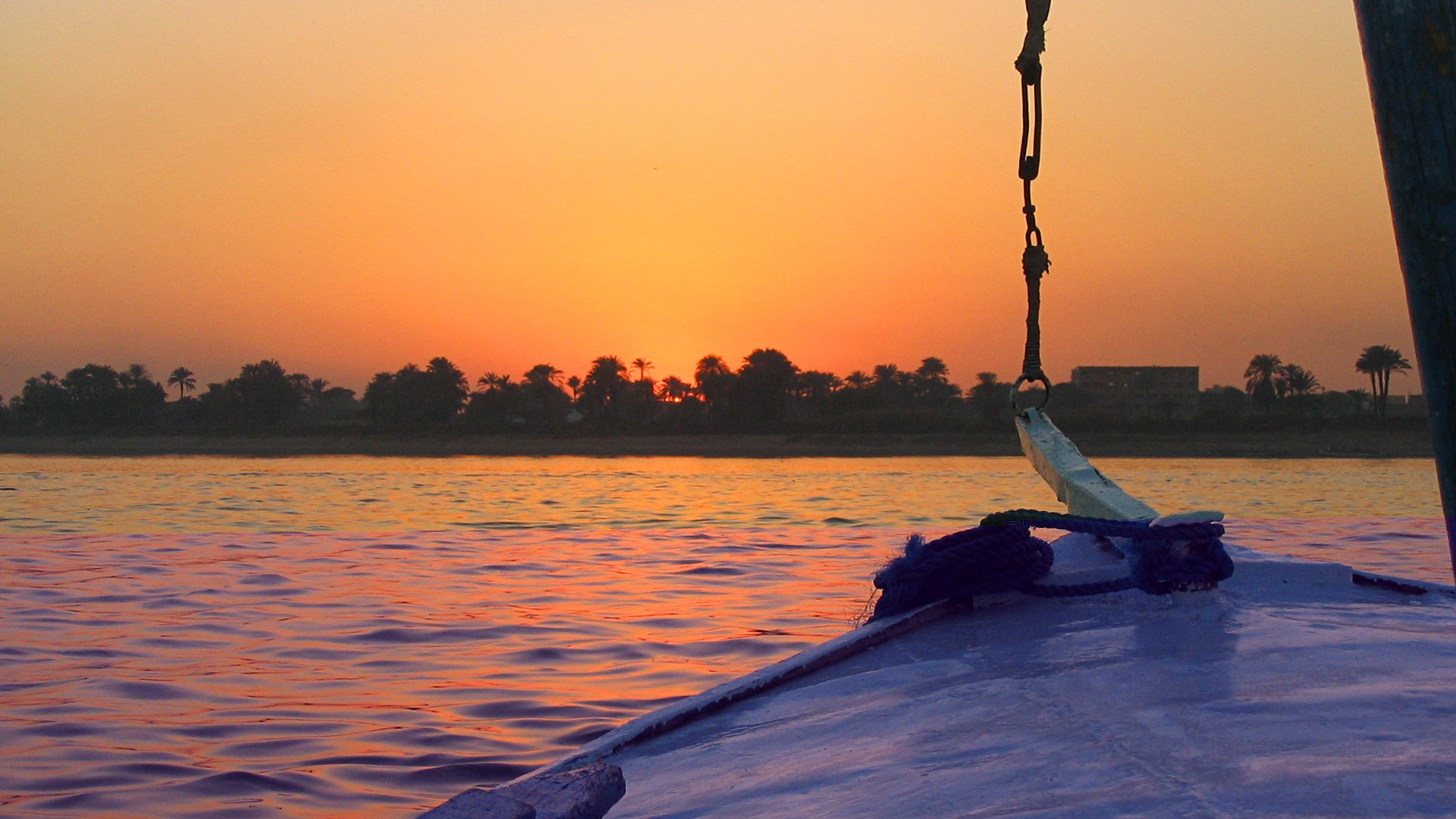Iphone X Official Wallpaper Hd Egypt Nile Sunset Windows Hd Wallpaper Preview