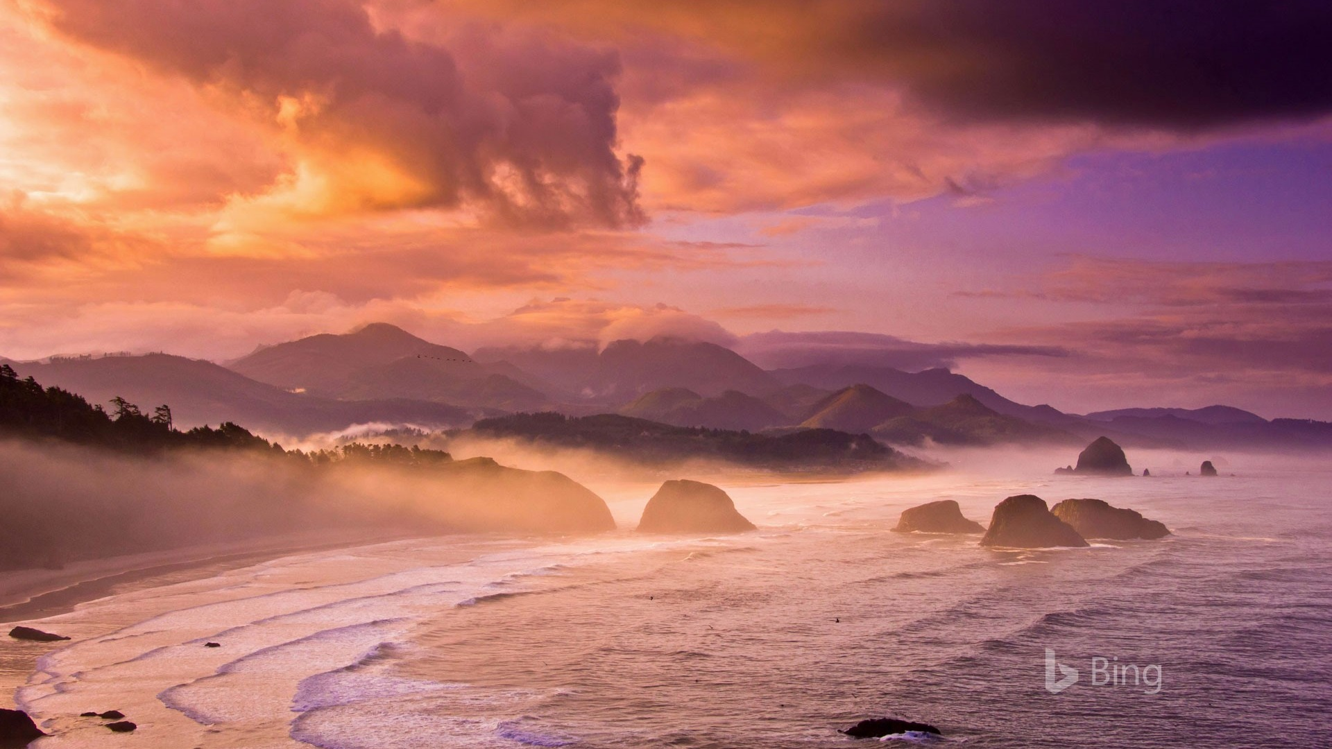 Iphone X Wallpaper For Note 8 Sunset Beach Oregon State Bing Wallpaper 2018 Preview