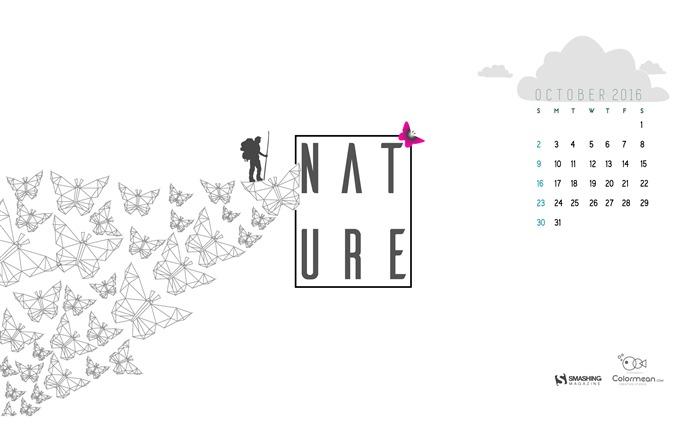 October 2016 Calendar Desktop Themes Wallpaper Album List