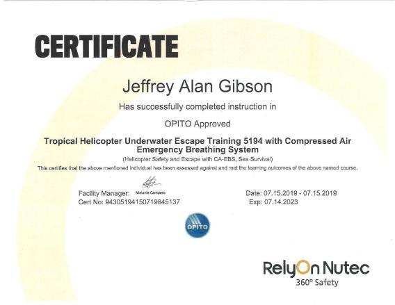 Jeffrey Gibson AWS Certified Welding Inspector  Nace