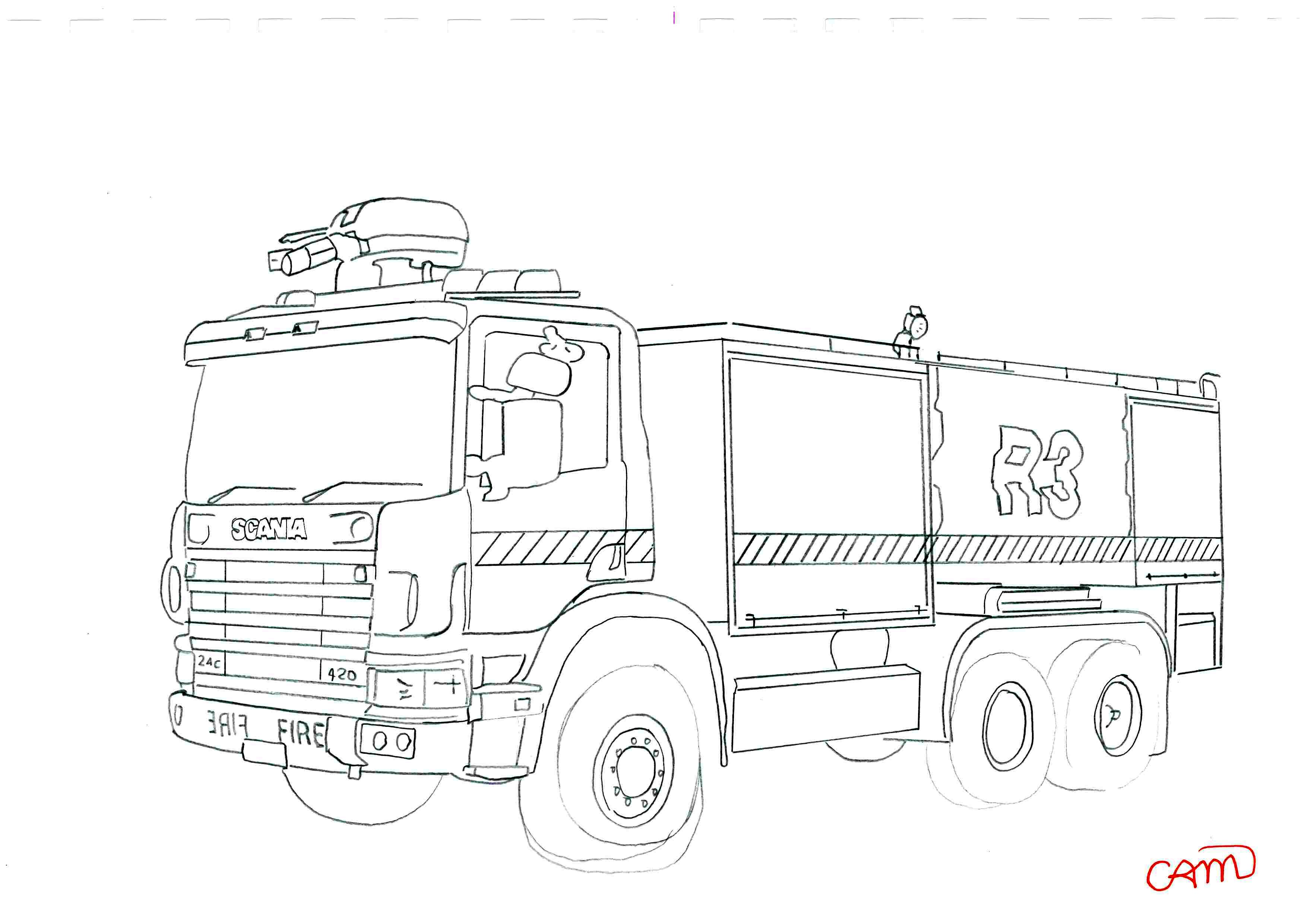Scania Trucks To Coloring Pages Sketch Coloring Page