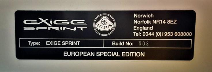 Lotus Exige Sprint European Special Edition