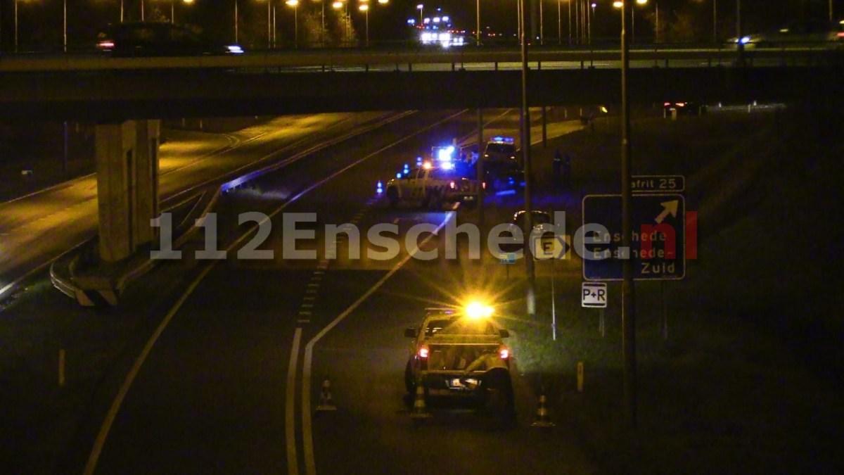 Afslag Enschede-Zuid op de A35 afgesloten