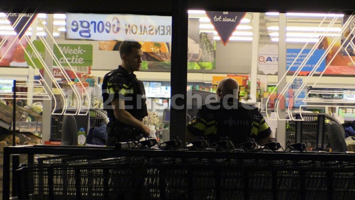 UPDATE (foto): Gewapende overval op Aldi in Enschede