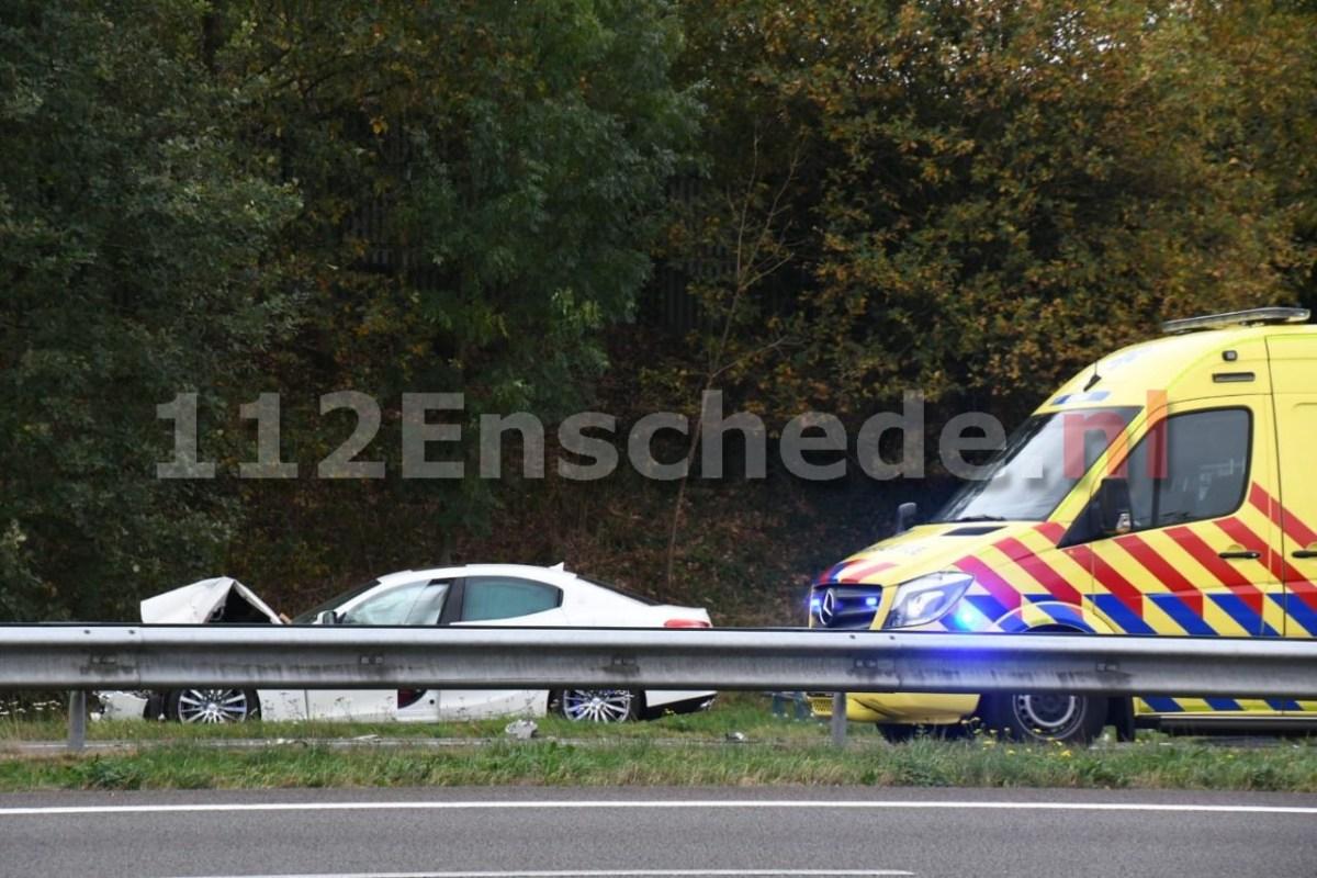 Opnieuw aanrijding bij werkzaamheden op A35 bij Enschede