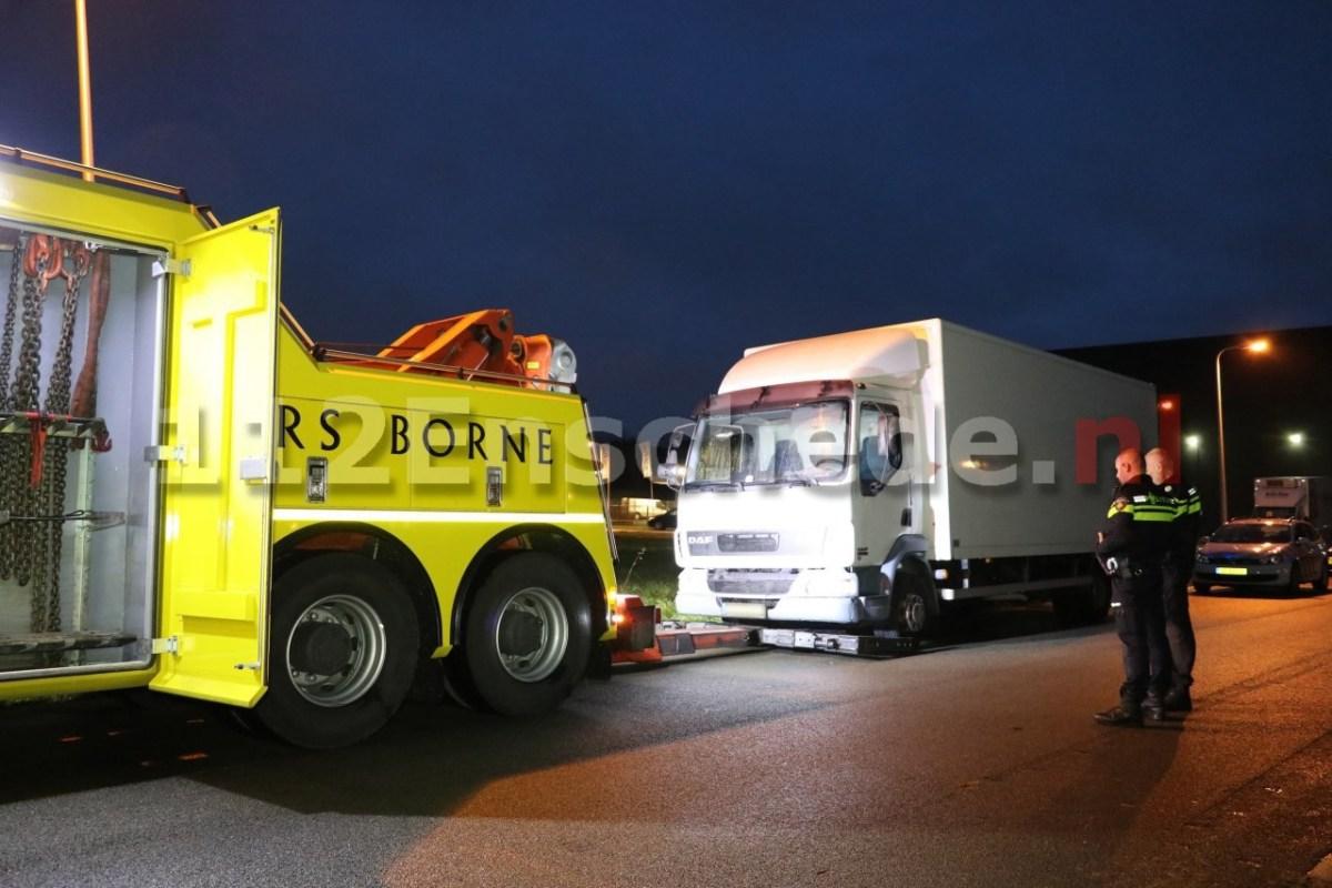 Vrachwagen in beslag genomen in onderzoek drugsdumpingen Twente