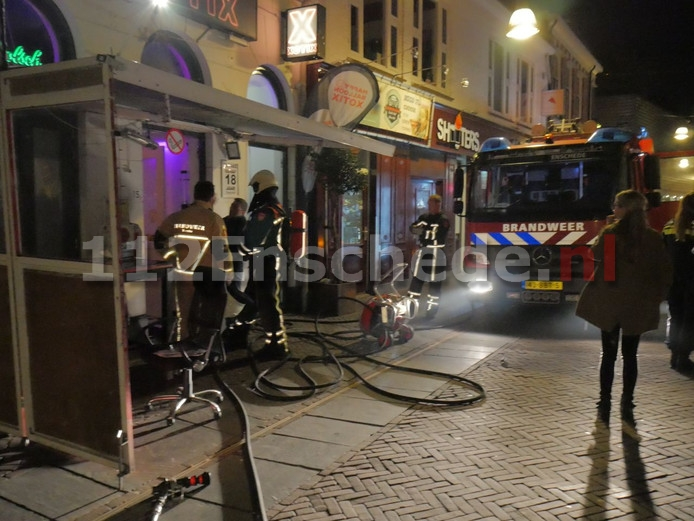Brand in pand in centrum Enschede