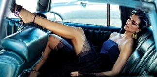 keep a guy in love - Sexy woman in the back seat of the car