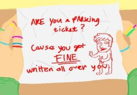 pickup line on a piece of paper