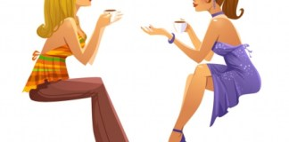 When best friends break up: Two women having coffee and conversation