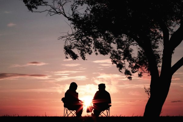 dating a man with prostate cancer couple sitting under tree