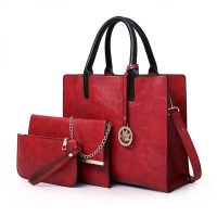ericdress contracted solid color women bag set