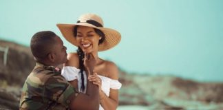 black military man with beautiful woman in floppy hat pexels photo 3282453