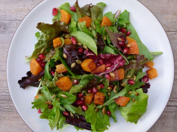 Pomegranate and Butternut Squash Winter Salad