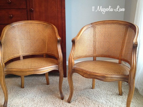 where can i buy cane for chairs dining chair set of 2 update with grey chalk paint 11 magnolia lane before