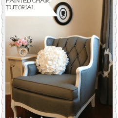 How Much Fabric To Cover A Chair Cushion Tall Beach Chairs Tutorial Paint Upholstery And Completely Transform Piece Of Furniture This Painted
