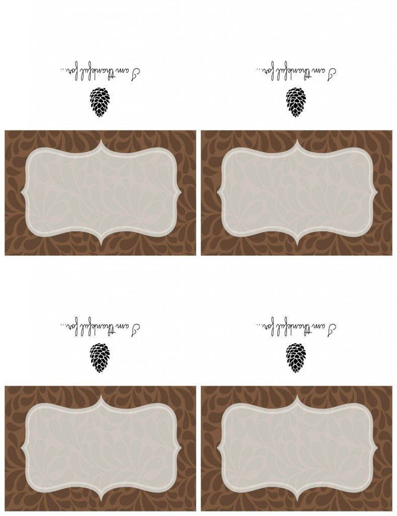 Free Printable Thanksgiving Place Card