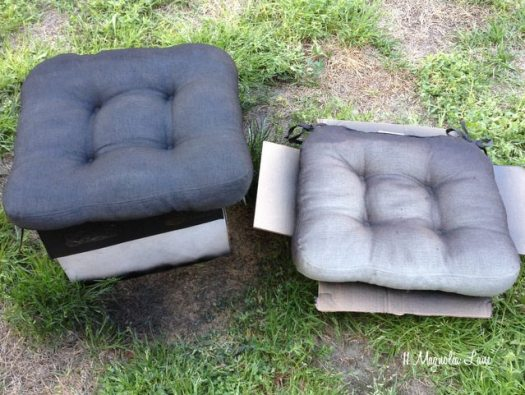 Spray Paint Cushions Side By