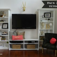Diy Shelves In Living Room Anthropologie Ideas Our New Home Tutorial On Built 11 Magnolia Lane Faux Ikea Hack