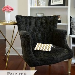 Black Velvet Chair Wicker Replacement Cushions Canada How To Paint Upholstery Fabric 11 Magnolia Lane Painted Thrift Store
