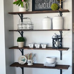 Shelves For Kitchen Portable Islands With Seating How To Build Open Stained 11 Magnolia Lane Tutorial Easy Diy Shelving