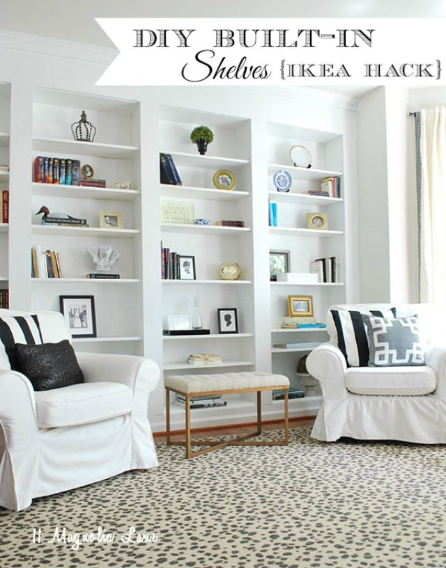 diy shelves in living room exotic furniture how to build built bookcases from ikea billy bookshelves 11 easy using
