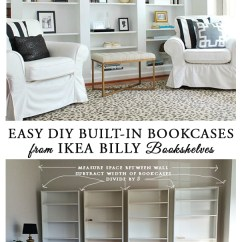 Diy Shelves In Living Room Images Of Modern Furniture How To Build Built Bookcases From Ikea Billy Bookshelves 11 The Look Library