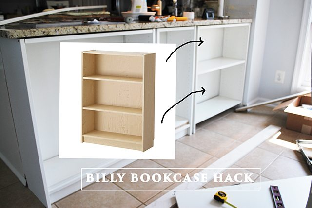 kitchen bookshelf diy outdoor homeright bookcase challenge to shelves 11 billy collage hack