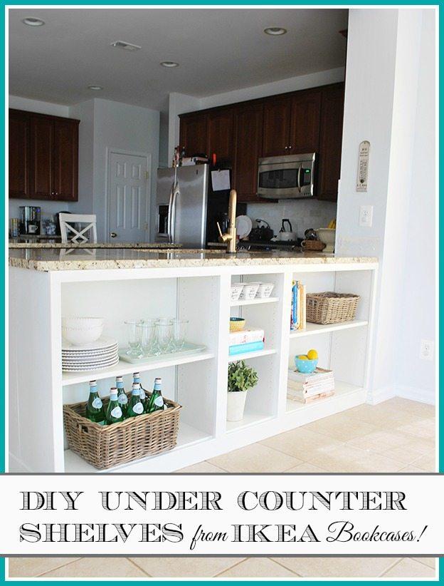 kitchen bookshelf types of counters homeright bookcase challenge diy to shelves 11 billy bookshelves hack