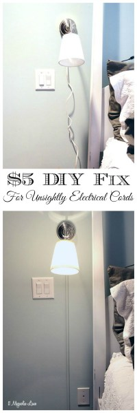 DIY 101: Hiding Electrical Cords | 11 Magnolia Lane