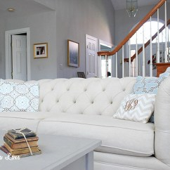Oatmeal Sofa Flower English Style Pottery Barn Chesterfield Review And Lower Cost ...