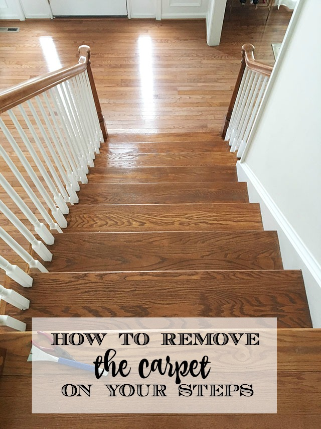 Removing Carpeting From Stairs