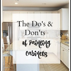 Repainting Kitchen Cabinets Sink Drain Size How To Paint Your For A Smooth Painted Finish 11 The Do S And Don Ts Easily Step By