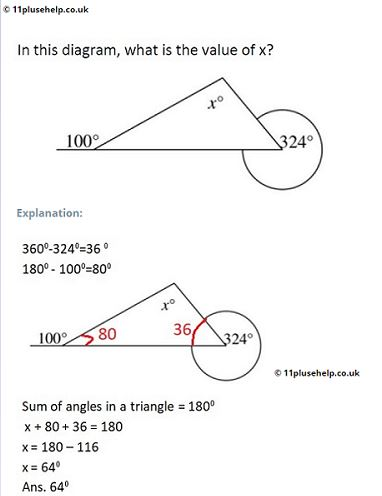 11 Plus Maths Example Problem