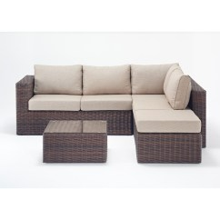 Small Wicker Sofa How To Wrap A Leather For Storage Rattan Sets Windsor Corner Set Wgf 2709