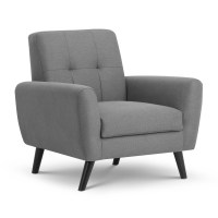 Grey Armchair - Monza Arm Chair, Fabric Chair MON503