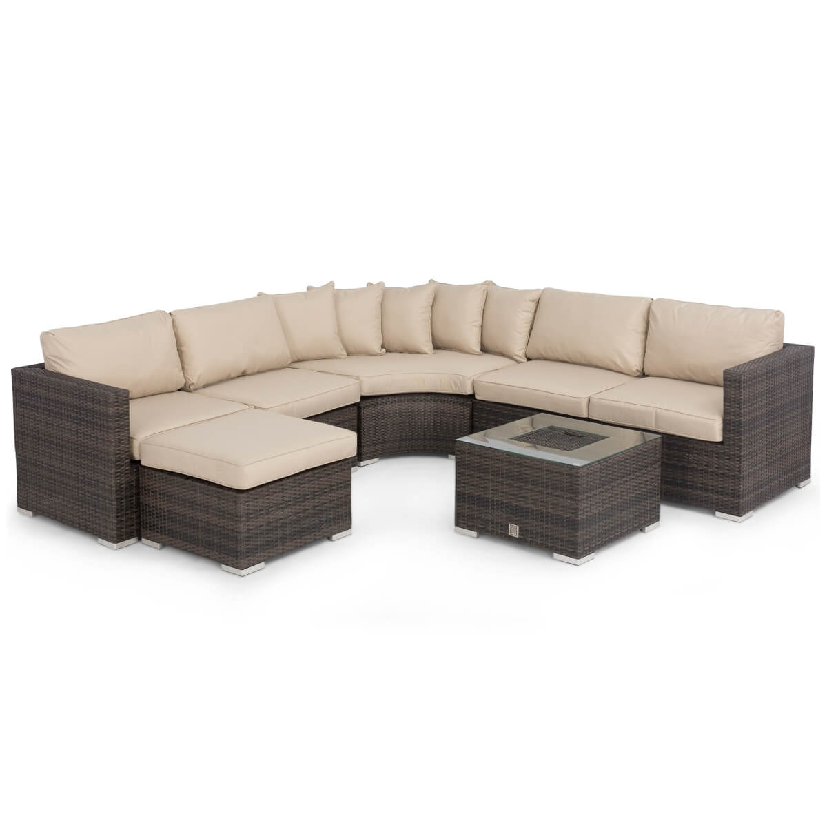 barcelona modular rattan corner sofa set air furniture maze with ice bucket fla