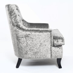 Crushed Velvet Chair Cover Hire In Croydon Shankar Jamestown Armchair Jmst Ac Cv Silver