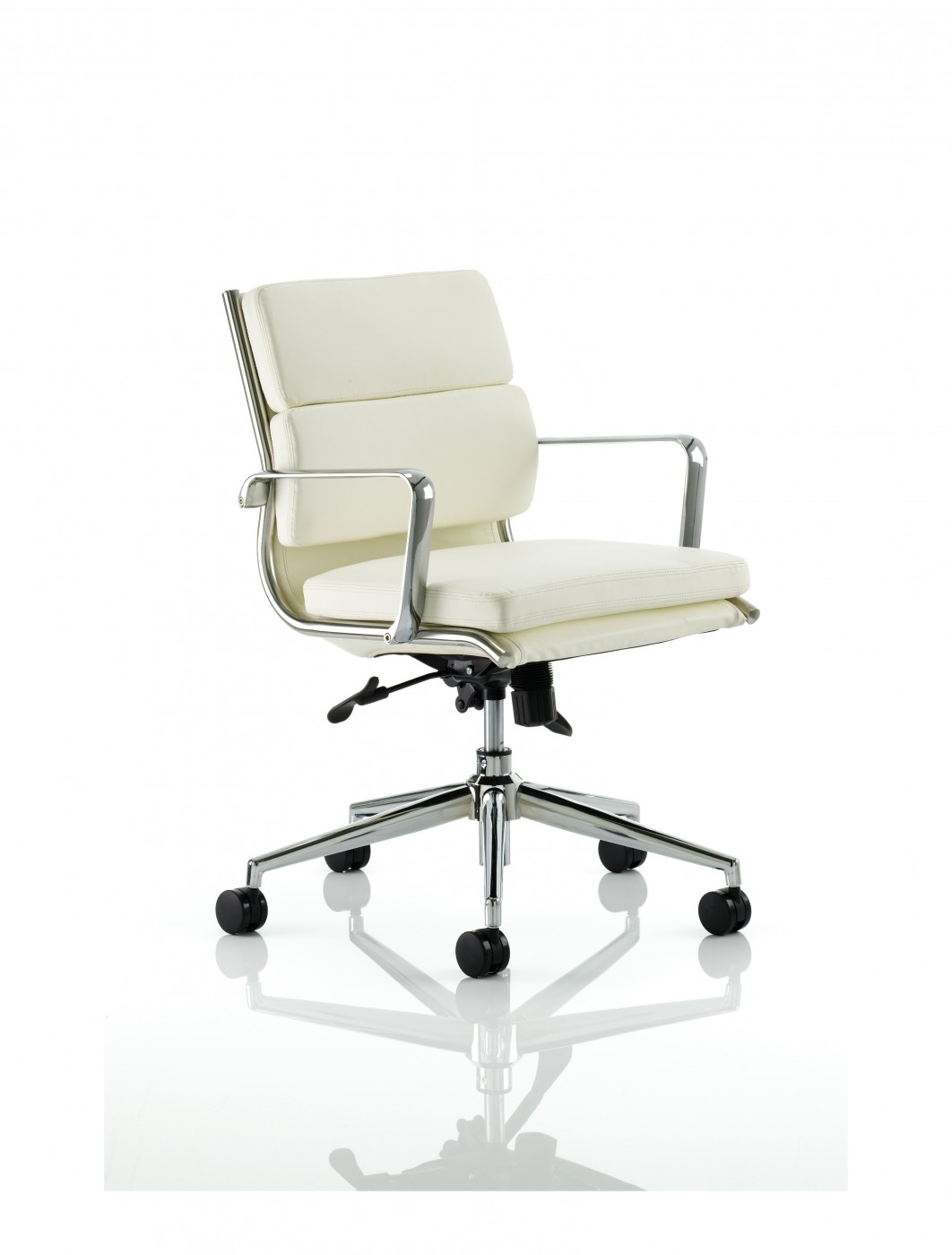 ivory leather office chair avengers table and chairs dynamic savoy medium back executive white 121