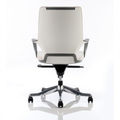 Office Chairs White Leather Plush Desk Chair Dynamic Xenon Executive With