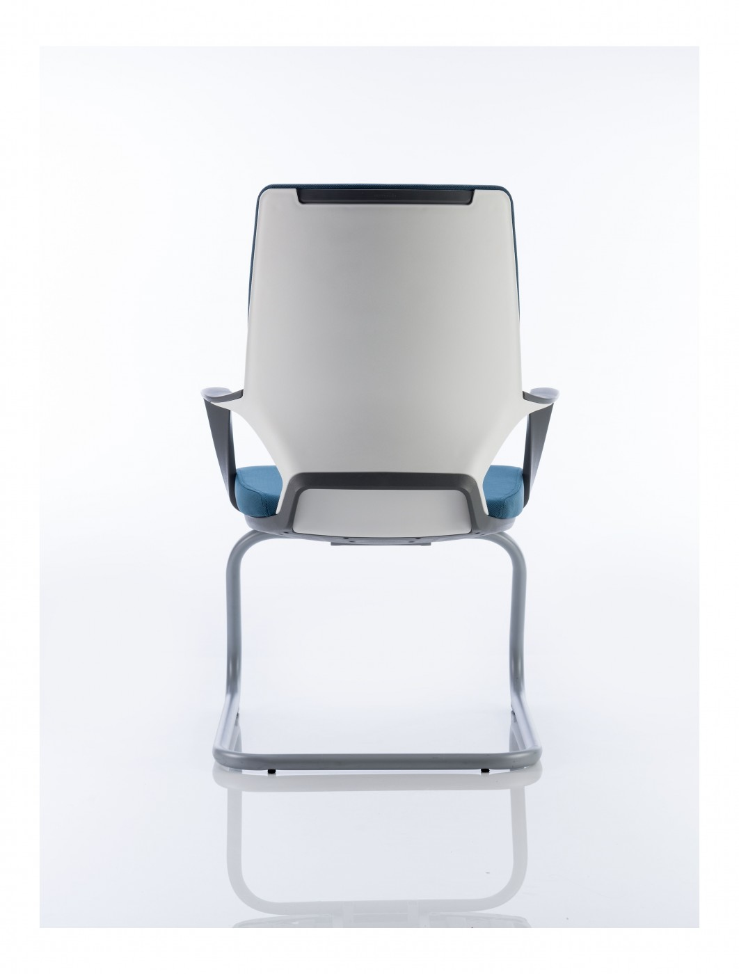 white shell chair best value computer dynamic xenon blue fabric visitors with