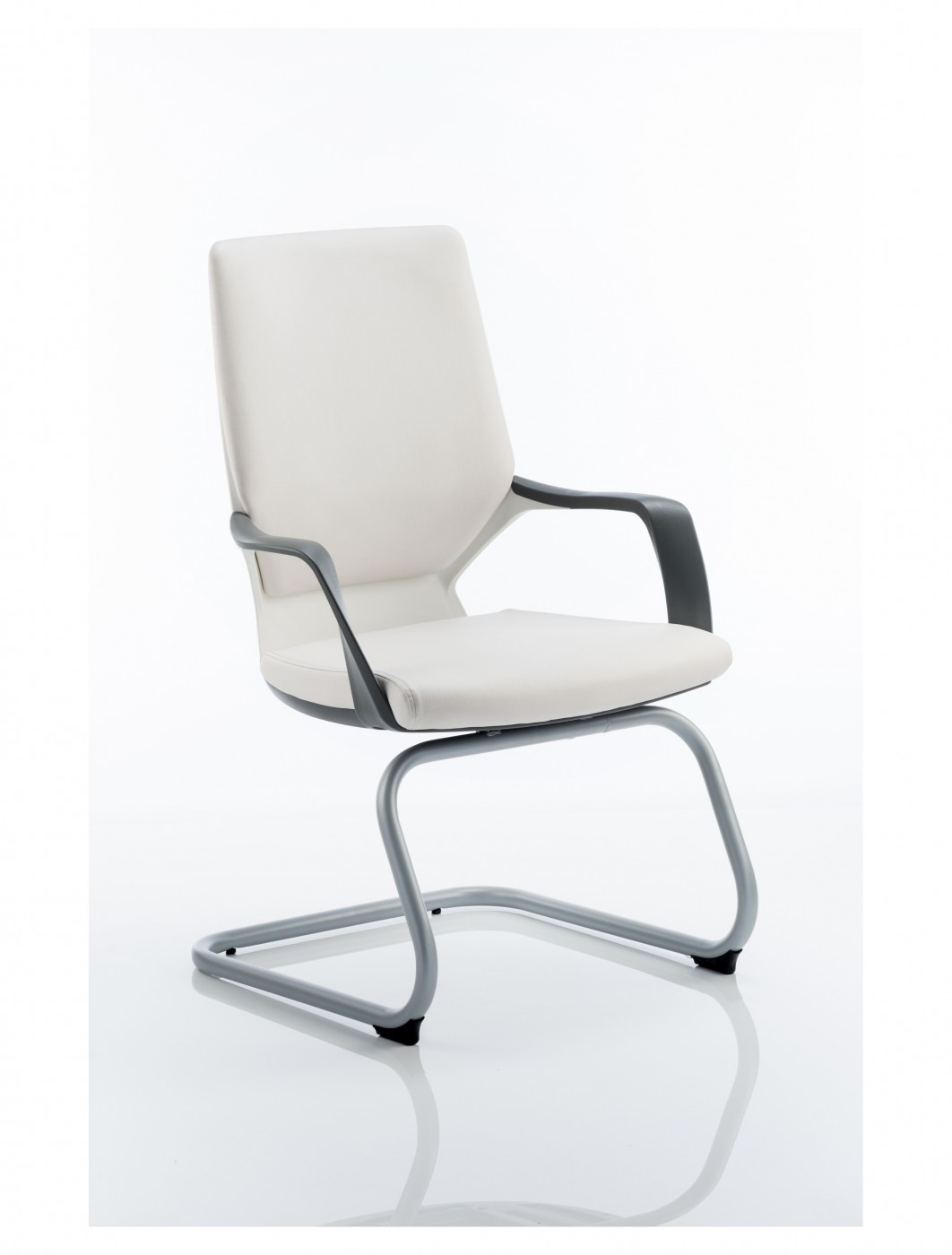 white shell chair upholstered linen dining chairs dynamic xenon leather visitors with