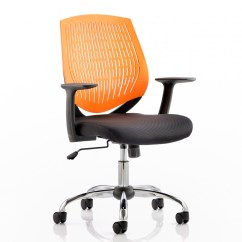 Orange Office Chairs Uk Silver Banquet Chair Covers Dynamic Dura Elastomer Back Operators In
