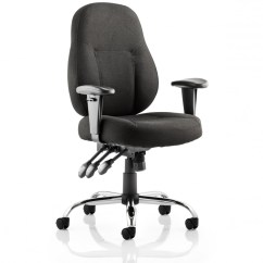 Cloth Office Chairs Adrian Pearsall Dining Dynamic Storm Black Fabric Operator