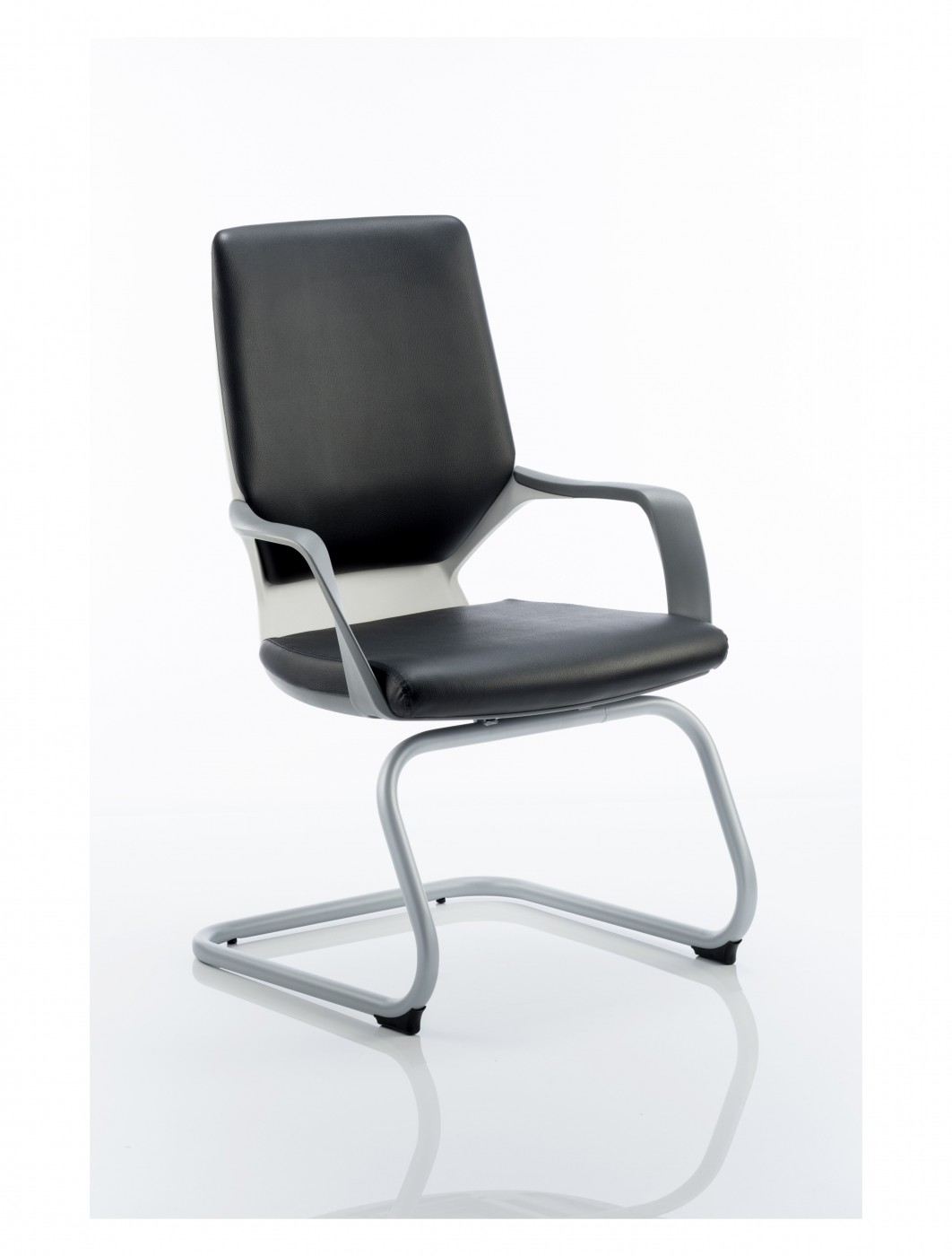 white shell chair dining covers images dynamic xenon black leather visitors with
