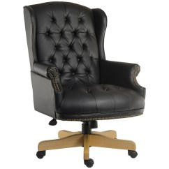 Leather Chair Office Big And Tall Mesh Drafting Chairman Noir Executive B6927 121