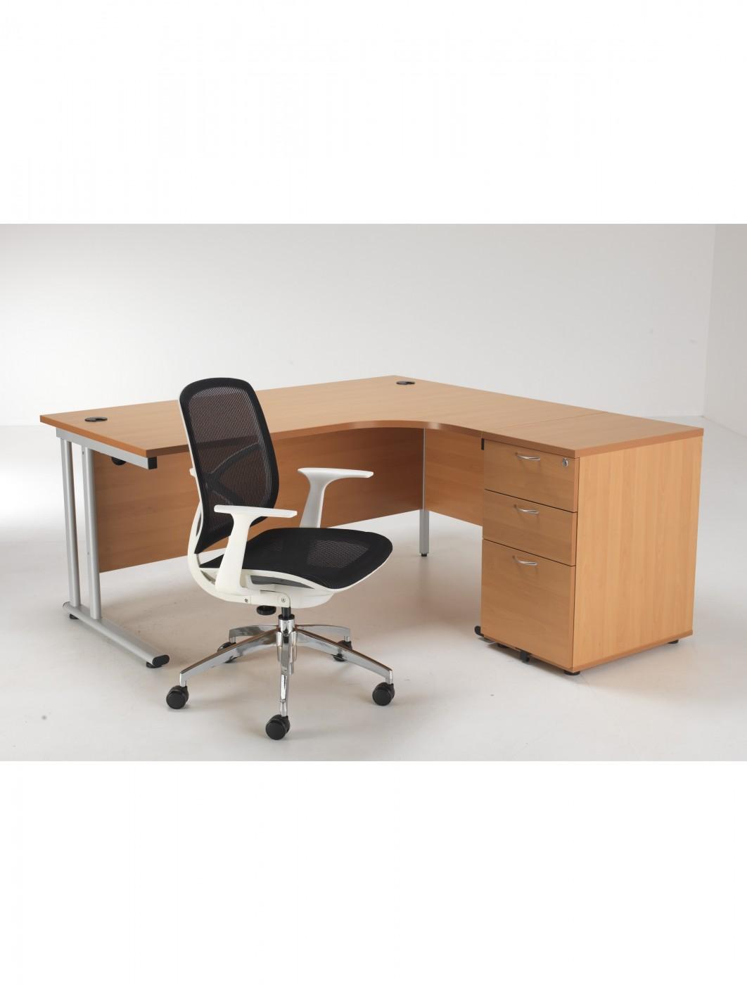 office chair pedestal heated computer desk and mesh bundle etcbund16rbe
